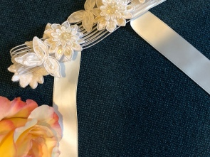 Handmade wedding garter